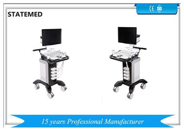 Sistem Pemindai Ultrasound Trolley Kesehatan Clear Image Stable Performance