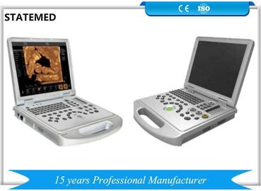 3D 4D Color Portable Doppler Ultrasound Machine 256 Timbangan Dengan Warna Silver